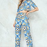 Nasty Gal What a Pair Crop Top and Pants Set