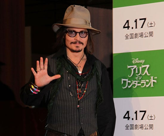 Slide Photo of Johnny Depp Promoting Alice in Wonderland in Tokyo