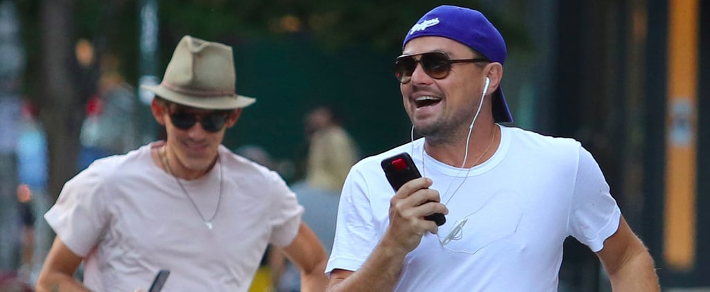 May We All One Day Be as Happy as Leo Blissfully Running to Catch a Cab in NYC