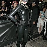 Doutzen Kroes got catty in a latex jumpsuit for a party in 2011.