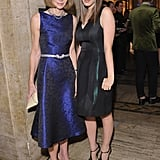Veering away from her standard Prada getup, Anna Wintour wore a metallic blue printed dress from Michael Kors's Resort '13 collection.