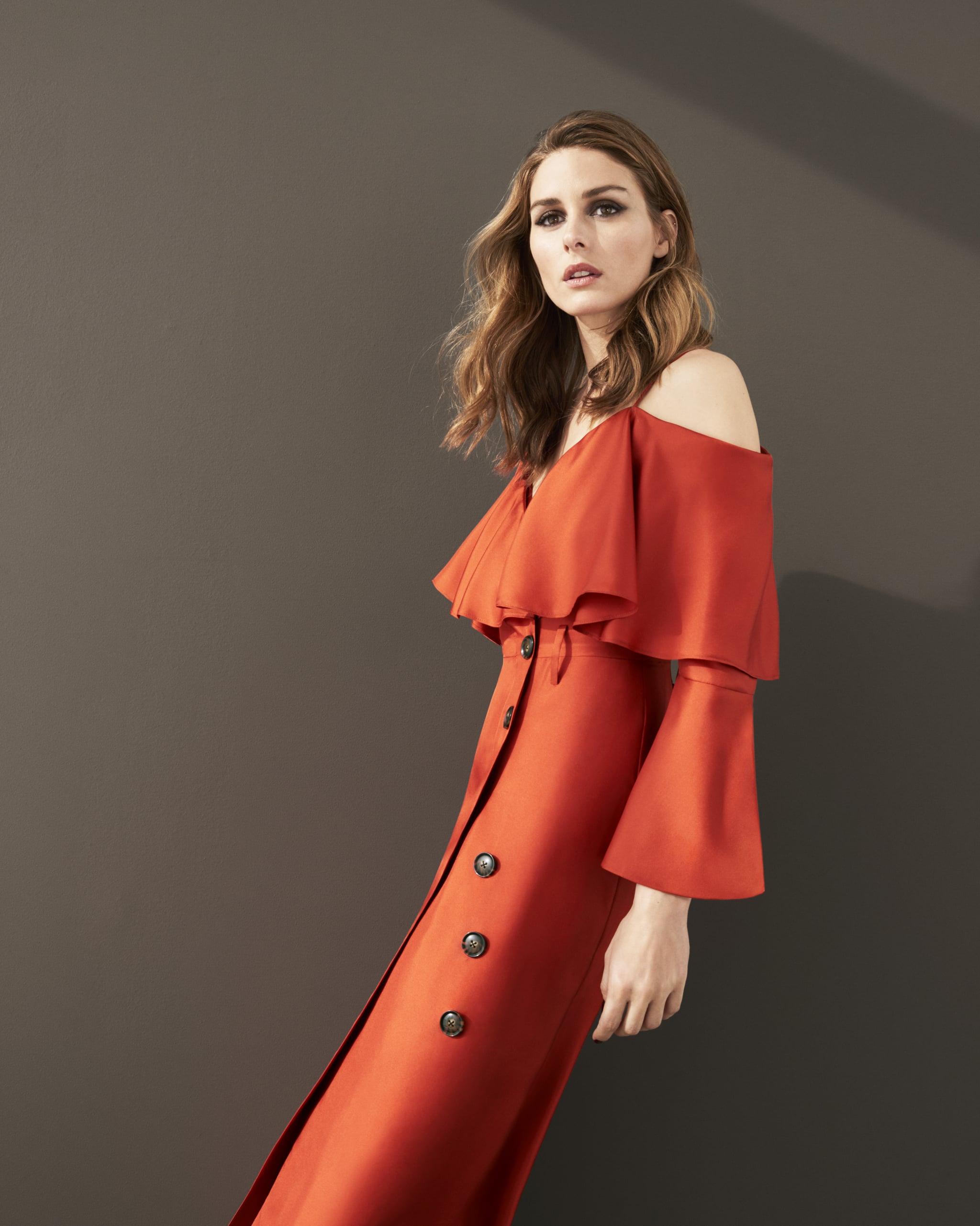 6c3c8786532d Banana Republic x Olivia Palermo Long-Sleeve Ruffle Off-the-Shoulder Midi  Dress