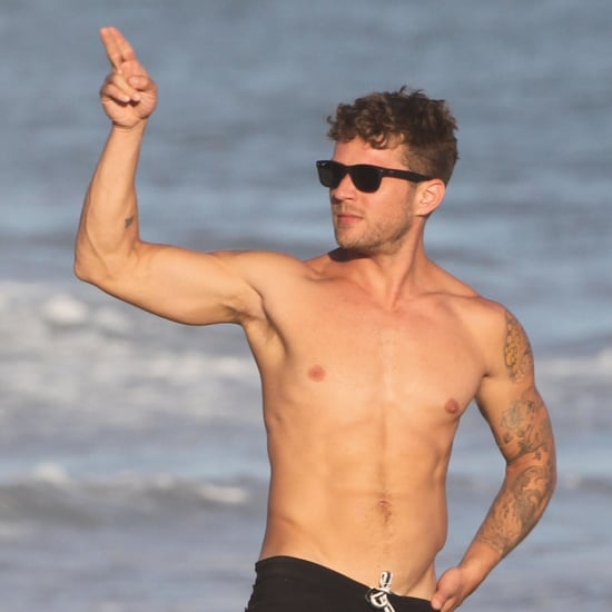 Ryan Phillippe Shirtless on the Beach in Malibu