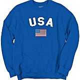 Brisco Brands USA World Cup Soccer Flag Sweater