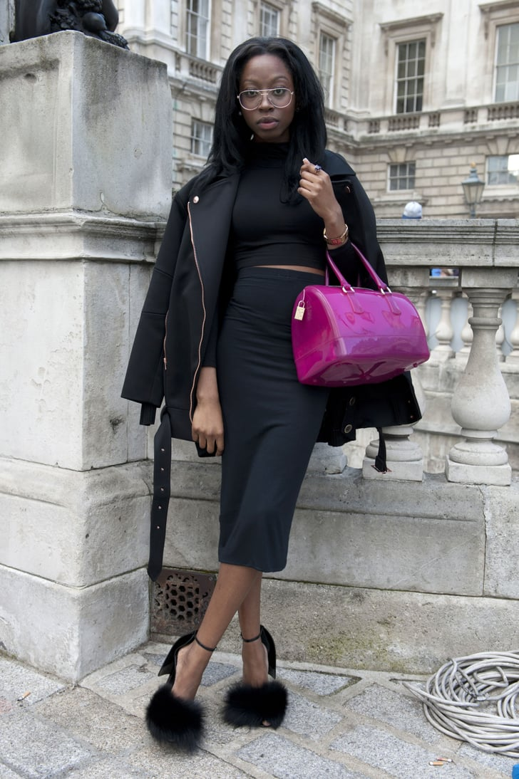 The Fluffiest Girliest Of Heels Turned Heads Outside The Shows Street Style At London