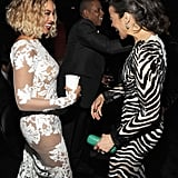 Beyoncé chatted up Paula Patton.