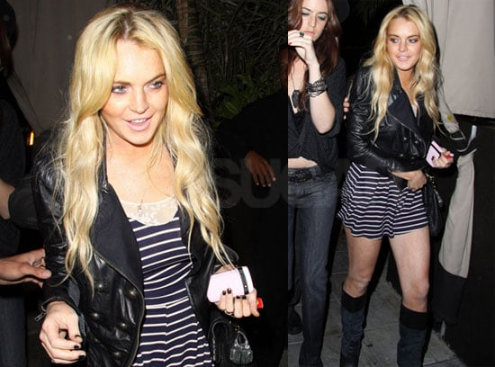 Pictures of Lindsay Lohan at Nobu and Teddys in LA