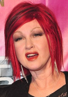 Cyndi Lauper's New Pink Hair