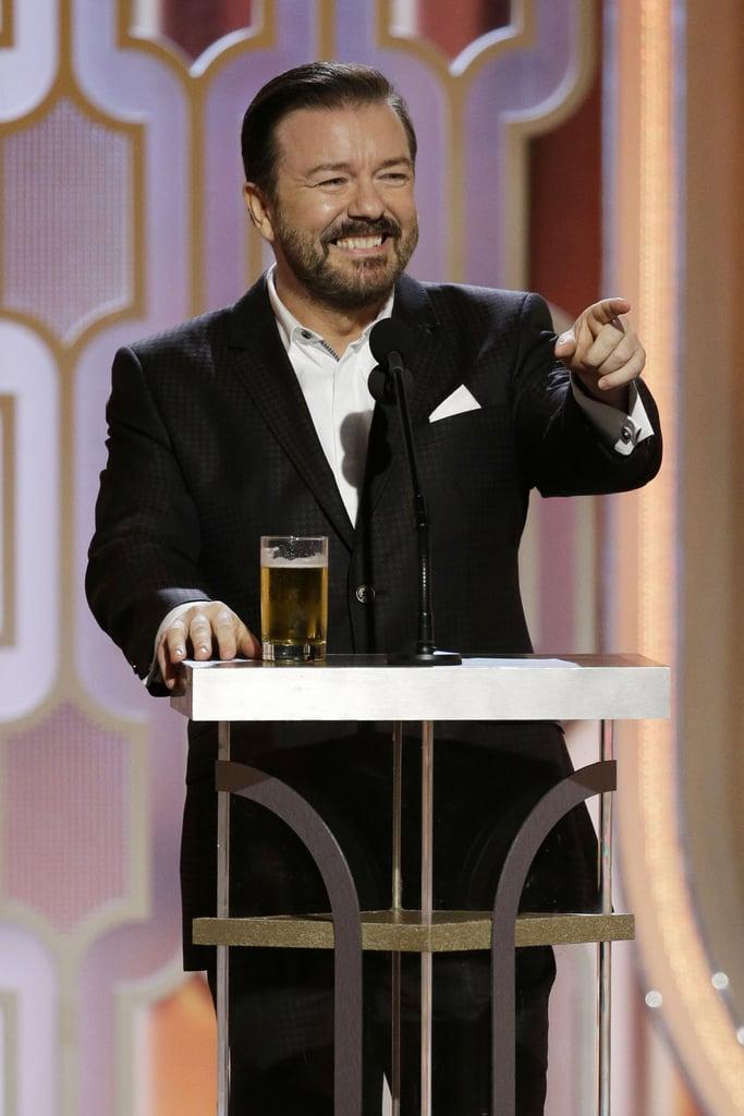 Ricky Gervais's 2016 Golden Globes Jokes