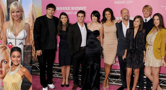 Photos of Ashton Kutcher, Demi Moore, Bruce Willis, Rumer Willis, Anna Faris at The House Bunny Premiere in Los Angeles