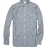 The quickest way to increase dad's cool factor is with a wear-everywhere chambray button-down. Just be warned: he may dance.  J.Crew Washed Chambray Shirt ($98)