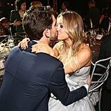 Newlyweds Kaley Cuoco and Ryan Sweeting shared some PDA inside the SAG Awards.