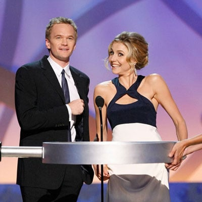 Sarah Chalke and Neil Patrick Harris at the Creative Emmys