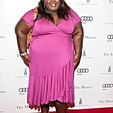 Gabourey Sidibe wore pink to the premiere of The Master.