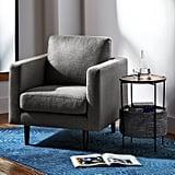Rivet Revolve Modern Upholstered Armchair