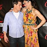 Tom Cruise and Paula Patton got together for the Mission: Impossible – Ghost Protocol premiere in Brazil.