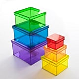 Translucent Rainbow Storage Cubes Set ($57)