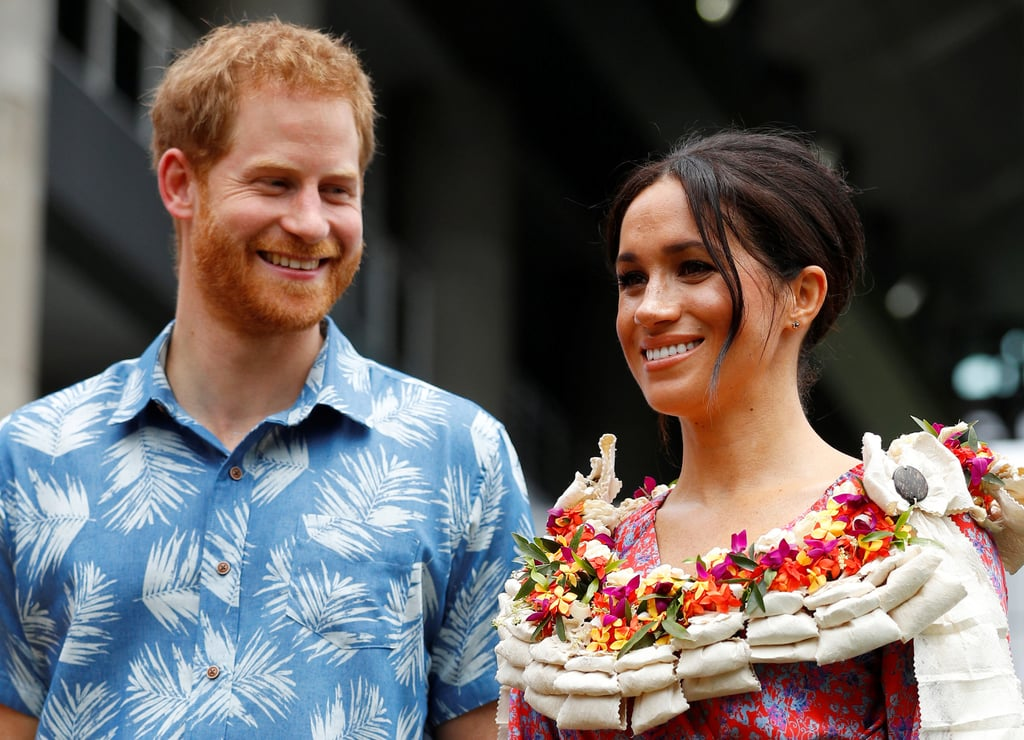 "Prince Harry can't stop gushing about his baby with Meghan Markle, and it's royally adorable! During their stop in Fiji earlier this week, Harry looked so happy when a student congratulated him on the baby news. ""I'm predicting it's going to be a boy,"" the young man told Harry, to which he replied, ""Everyone is predicting it's going to be a girl."" Earlier this month, Kensington Palace announced that the Duchess of Sussex ""is expecting a baby in the Spring of 2019."" While no other details have been released at the moment, Harry did recently reveal that he hopes it's a girl. Can you imagine a mini Meghan? So cute!       Related:                                                                                                           Prince Harry and Meghan Markle's Baby's Last Name Will Most Likely Be This"