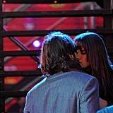 Ashton Kutcher and Lea Michele Lock Lips For New Year's Eve