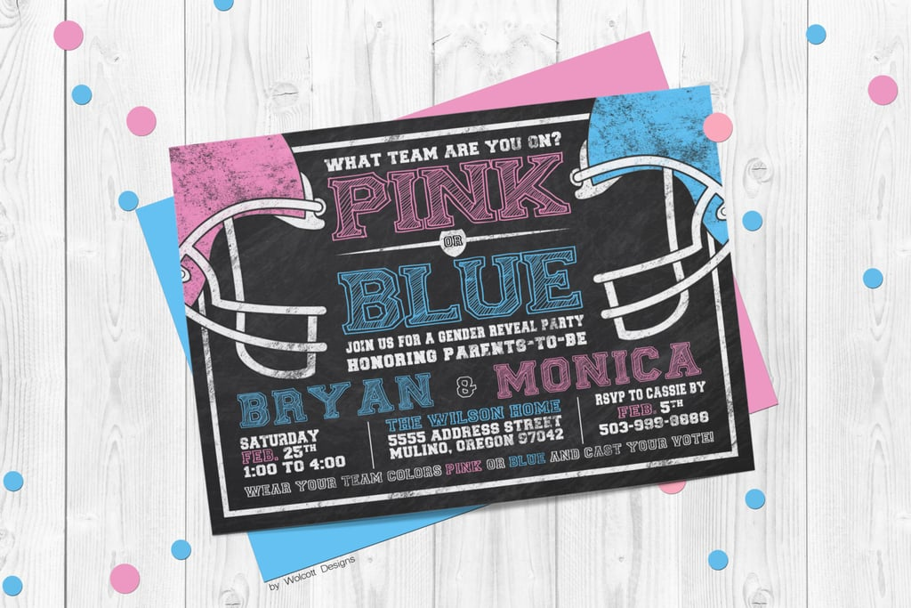 Team Pink or Team Blue Invite