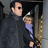 Jennifer Aniston and Justin Theroux in NYC.