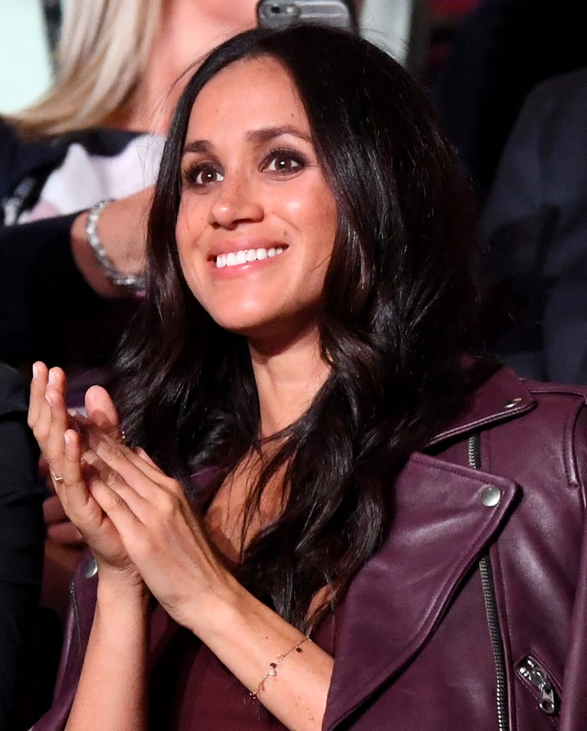 Meghan Markle Wearing Purple Dress at Invictus Games 2017