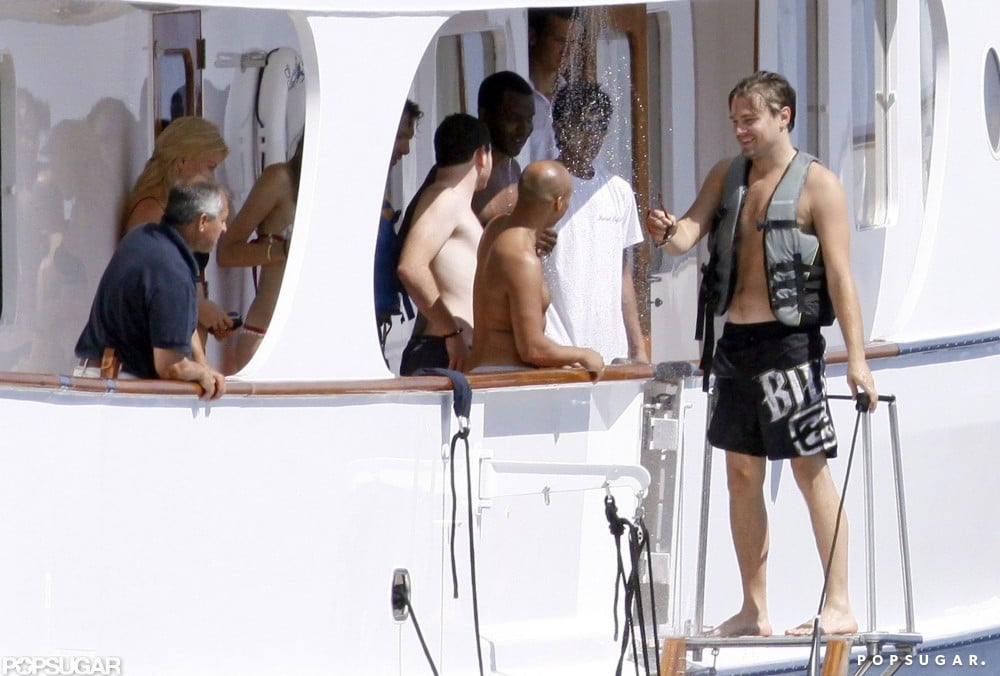 Leonardo DiCaprio vacationed on a yacht in St. Tropez with friends in August 2009.
