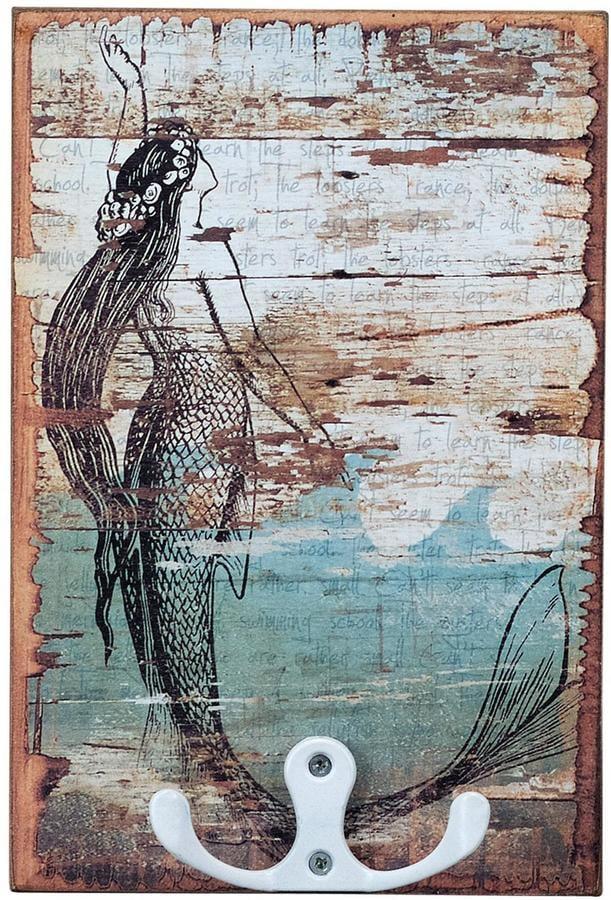 Mermaid Hook Plaque ($12)