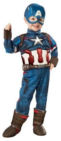 Marvelu0027s Captain America Deluxe Toddler Costume