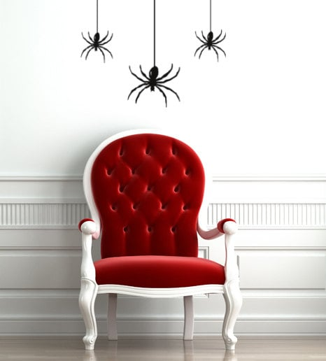 For a creepy crawly touch, add removable spider decals ($11) to your windows, walls, and mirrors.