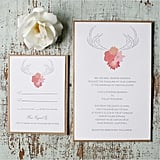 Antler Wedding Invitation