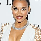 Naya Rivera was also a part of the ponytail crew, but she chose to pair her look with metallic silver shadow and a plunging neckline.