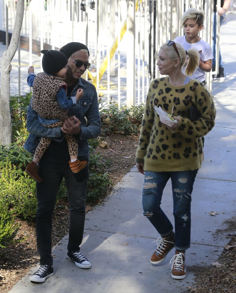 Gwen Stefani and Her Boys Get in the Halloween Spirit