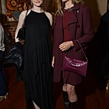Evan Rachel Wood stepped out in yet another black halter-style dress and a Barbara Bui bag for the festival's juror welcome lunch, where she posed alongside Mira Sorvino.