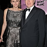 Prince Albert and Princess Charlene were happy at a Mont Blanc event.