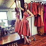 Coco Rocha stopped by her friend Zac Posen's NYC showroom. Source: Instagram user zac_posen
