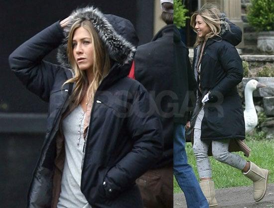 Photos of Jennifer Aniston on Marley and Me Set in Philadelphia