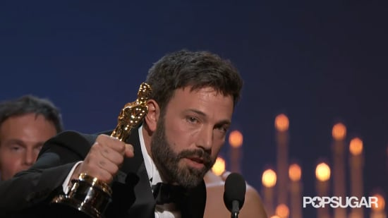 Ben Affleck Cries at Oscars GIF