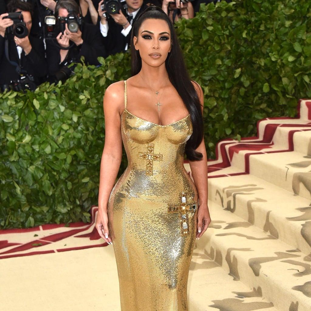 Kim Kardashian Versace Dress at the 2018 Met Gala | POPSUGAR Fashion