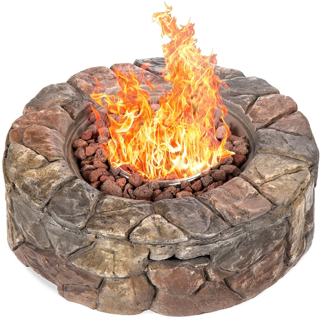 Best Choice Products 30,000 BTU Gas Fire Pit With /Natural Stone