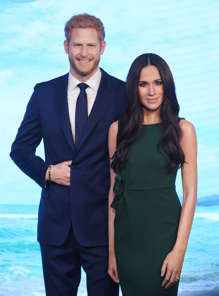 "Get excited to pose with Meghan Markle . . . well, sort of. Madame Tussauds announced it will be debuting Meghan's wax figure later this month, just before her wedding to Prince Harry. ""World famous Madame Tussauds London will be safely delivered of a future princess, bride to be and former queen of the courtroom in May 2018,"" the museum's general manager, Edward Fuller, wrote in a statement. ""Her Royal Likeness, Meghan Markle, will take her position alongside future husband Prince Harry in time for the wedding of the year."" OMG, try this for news... #MeghanMarkle will be joining her future husband Prince Harry at #MadameTussaudsLondon! Can't breathe. 👑✨#ThePrincessIsHere pic.twitter.com/lPABJTagTp— Madame Tussauds London (@MadameTussauds) March 21, 2018   Before the wax figure was revealed, the museum's general manager said it would ""reflect an iconic moment in Meghan's royal journey so far."" Now we know the moment he was referring to was the couple's engagement announcement. Meghan's wax figure is wearing the same green dress she wore in the photos and their first engagement interview. The wax figure will be placed next to one of Harry, which was updated to include his beard. The two figures will be out for the public on May 18, the day before their wedding. The museum also revealed it will offer guests named Meghan or Harry free entry on the day of the royal wedding. Madame Tussauds New York is also set to unveil its own Meghan wax figure. Keep scrolling to see the royal bride-to-be's wax figure in all its glory.      Related:                                                                                                           When Meghan Markle Looks at Prince Harry, It's Almost as If the World Stands Still"