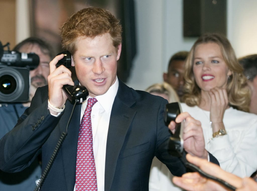 Prince Harry looked confident as the morning progressed.