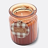 Spiced Pumpkin Ribbed Glass Jar Candle