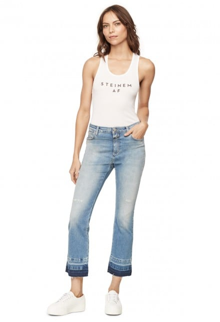 """Milly's Steinem AF Tank ($80) speaks to the brand's backing of Gloria Steinem, who, in their opinion, """"takes the term 'Girl Boss' to the next level."""""""