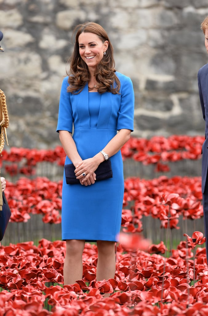 Pictures of the Duchess of Cambridge Wearing Blue Outfits