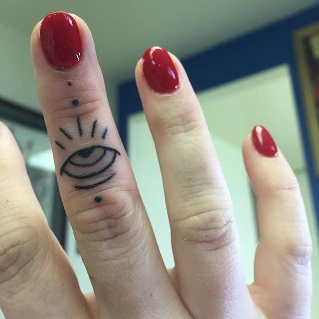 67200240af55f Evil Eye Tattoo Ideas | POPSUGAR Beauty