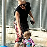 Pink Splashes Around With Willow in NYC Ahead of Her Australian Tour
