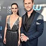 Pictured: Gal Gadot and Chris Hemsworth
