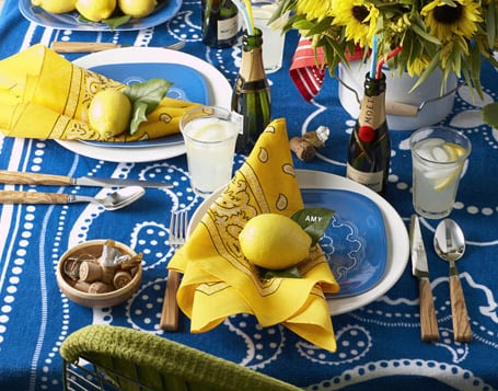 Casa Quickie: Use a Beach Towel For Casual Summer Dining