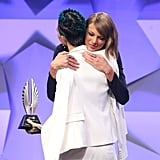 Taylor Swift and Ruby Rose at GLAAD Media Awards 2016